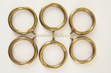SET of 6 gilt brass curtain rings, circa 1900s