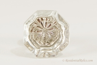 Small cut-top glass knob, circa 1910s (20 available)