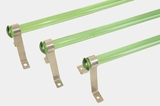 "<i><font color=""#cc6600"">All Sold!</i></font color=""#cc6600""> Green glass towel bar, circa 1930s"