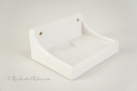 White porcelain ceramic soap dish, circa 1930s