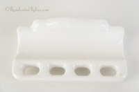 White porcelain ceramic toothbrush and toothpaste holder, circa 1930s