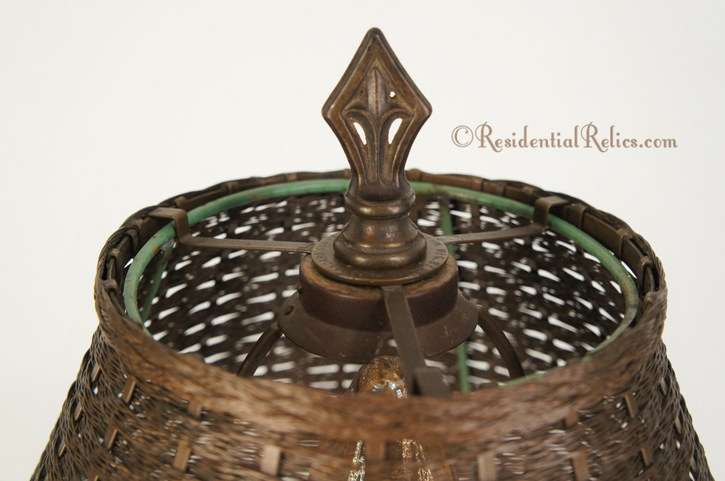 Vintage wirecraft metal glo table lamp circa 1930s wirecraft metal glo table lamp circa 1930s greentooth Images