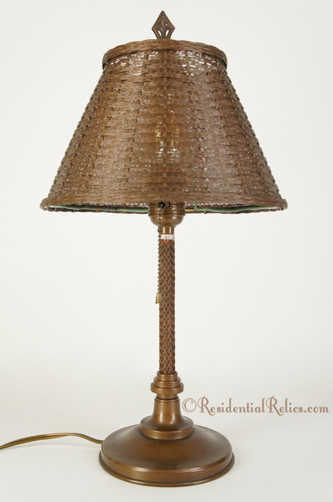 Vintage Wirecraft Quot Metal Glo Quot Table Lamp Circa 1930s