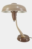 Two-tone hooded desk lamp, circa 1940s