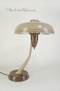 Mid-century Two-tone hooded desk lamp, circa 1940s