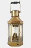 Alderson and Gyde electrified nautical brass lantern, circa 1941