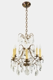 6-candle Swedish cut-crystal chandelier, circa 1950s
