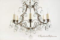 Swedish controlled bubble crystal chandelier, circa 1950s
