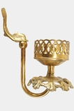 Cast brass dolphin cup holder, circa 1960s (2 available)