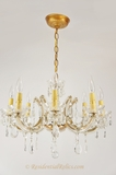 8-candle Italian Maria Theresa-style crystal chandelier, circa 1940s