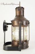 "<i><font color=""#cc6600"">Sold!</i></font color=""#cc6600""> Anchor ship-style exterior wall lantern, circa 1930s"