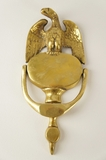 Cast brass American Eagle door knocker, circa 1940s