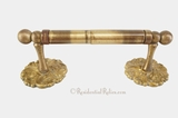 Cast brass toilet paper holder, circa 1960s