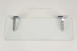 "Mid-century Autoyre ""Fairfield"" clear glass bath shelf, circa 1950s"