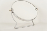 Double sided beveled glass bath mirror, circa 1950s