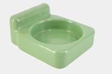 Green ceramic cup holder, circa 1930s
