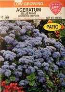Flower Seeds:Ageratum - Blue Mink