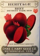 Heritage Vegetable Seeds:Heritage Beet - Detroit Dark Re