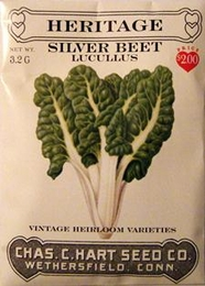Heritage Vegetable Seeds:Heritage Silver Beet (Swiss Cha