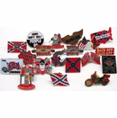 10 pc Skull & Bones, Confederate, Miscellaneous, & Redneck Pin Assortment