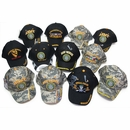 12 Pc Military Cap Assortment