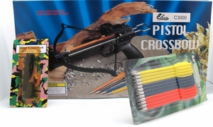 50 lb. Crossbow Pistol with Extra Bolts and String