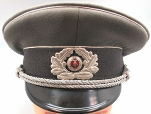 East German Army Officer's Visor Cap- Like New