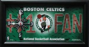 Boston Celtics License Plate Clock