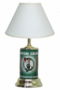Boston Celtics License Plate Lamp with White Shade