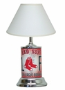 Boston Red Sox License Plate Lamp with White Shade