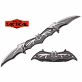 Razor Tactical Double Blade Assisted Opening Bat Knife- Black & Silver