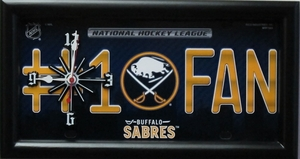 Buffalo Sabres License Plate Clock