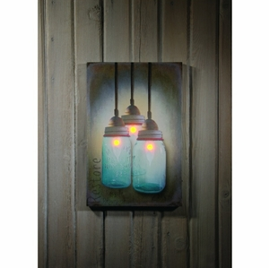 Canning Jar Chandelier Lighted Canvas Wholesale Price For Sale ...