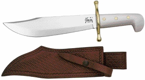 Case Bowie Knife with White Handle