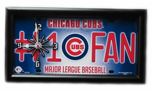 Chicago Cubs License Plate Clock