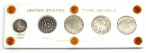 U.S. Nickel & Half Dime Type Set - Click to enlarge