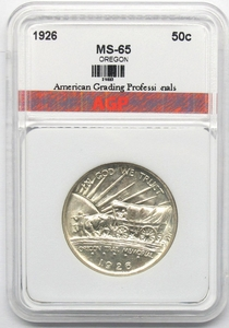 1926 Oregon Trail Commemorative- Certified MS65 Uncirculated - Click to enlarge