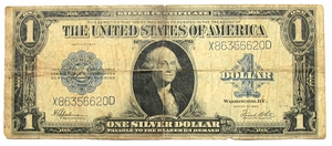 $1  U.S. Series 1923 Silver Certificate (Large Size) - G/VG - Click to enlarge