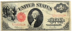 U.S. $1 United States Note- Series of 1917 (Large Size) - Click to enlarge