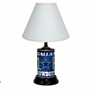 Dallas Cowboys License Plate Lamp w/White Shade