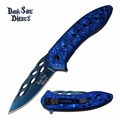 "Dark Side Blades ""Blue Skull"" Assisted Opening Knife"