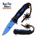 """Dark Side Blades """"Blue Widow"""" Assisted Opening Knife"""