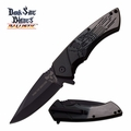 "Dark Side Blades ""Fear The Darkside"" Assisted Opening Knife- Grey/Black"