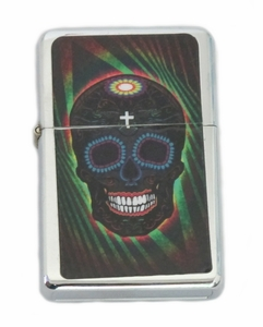 Day of the Dead Skull- Black Lighter