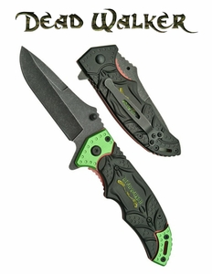 Deadwalker Redemption Stonewash Drop Point Blade Assisted Opening Knife