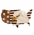 Eagle on USA Map Intarsia Wood Box