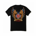 Firefighter Protecting Life and Property Wings T-shirt