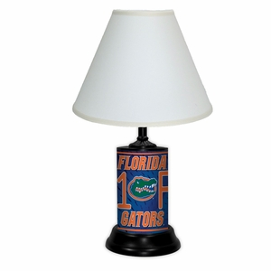 Florida Gators License Plate Lamp w/White Shade