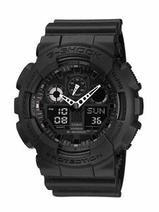 Men's Stealth Black G-Shock Watch GA100-1a1 by Casio