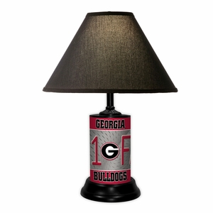 Georgia Bulldogs License Plate Lamp w/Black Shade